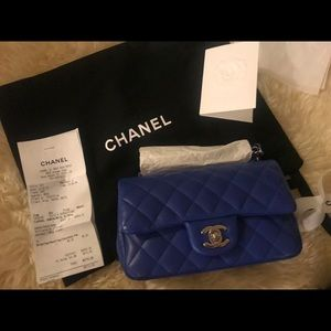 "My ""Something Blue"" Chanel Mini Flap wedding purse"